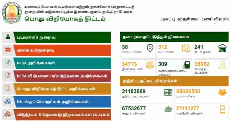 Check here full detail of TNPDS Ration Card Download